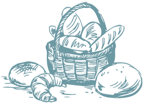 Icon: drawing of basket of breads