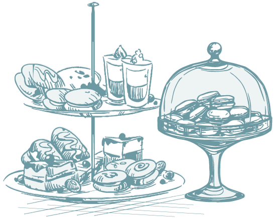 Icon: drawing of pastries