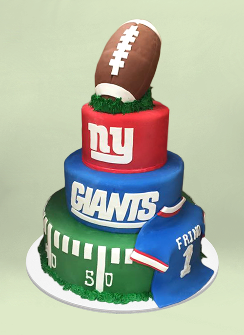 NY Giants Photo Specialty Cake